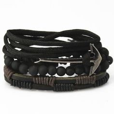 Cheap leather bracelet, Buy Quality bracelet fashion men directly from China bracelet men Suppliers: New Fashion accessories anchor Bead Leather Bracelets & bangles pcs 1 Set Multilayer Braided Wristband Bracelet Men pulseira Stackable Bracelets, Handmade Bracelets, Bracelets For Men, Fashion Bracelets, Bangle Bracelets, Leather Bracelets, Anchor Bracelets, Mantraband Bracelets, Leather Wristbands