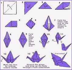 Free Origami Crane Pattern