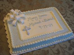 buttercream baptism cake | Baptism and Christening: Baptism and Christening Cakes