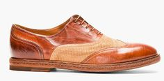 Paul Smith Austerity Brogue Leather And Burlap Shoes