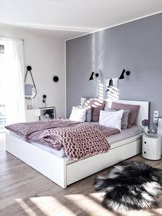 New trend modern Bedroom Design Ideas for 2020 Part 1 ; bedroom design ins Bedroom Themes, Bedroom Sets, Home Decor Bedroom, Bedroom Styles, Design Bedroom, Bedroom Lamps, Wall Lamps, Bedroom Ideas Grey, Diy Bedroom