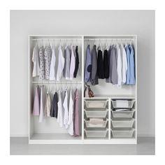PAX Wardrobe, white, Tyssedal white 78 3/4x23 5/8x79 1/4