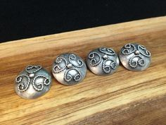 Navajo Silver Button Set With Beautiful Rope Wire Design by SpavinawCreekGallery on Etsy
