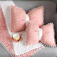Bow Pillows, Kids Pillows, Cheap Decorative Pillows, Pink Paris, Neck Pillow, Home Textile, Farmhouse Decor, Coastal Farmhouse, Crochet Projects