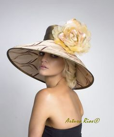 Great for Derby Day!    Couture Derby Hat Lampshade hat by ArturoRios on Etsy, $195.00