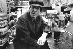 Canadian poet, singer-songwriter and novelist Leonard Cohen poses for a portrait in a diner in New York, New York circa (Photo by Roz Kelly/Michael Ochs Archives/Getty Images) Leonard Cohen, Adam Cohen, Suzanne Vega, Coachella Valley, Rock And Roll, Muse, Legendary Singers, Marianne, Your Man