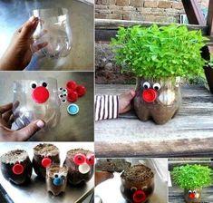 Креативные горшочки для зелени