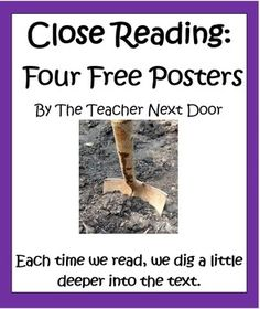 Close Reading: Four Posters by the Teacher Next Door