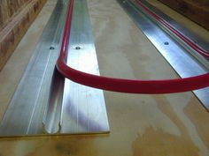 Close up of ThermoFin C radiant heat transfer plates with tubing for a hydronic heating system. #thermofin #radiant #heated #floors