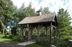 rustic Backyard pavilion | Green Bay Botanical Garden | Gardens Gardening | Gardens Architecture