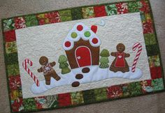 Looking for your next project? You're going to love Gingerbread Christmas Table Runner by designer 2strings. - via @Craftsy