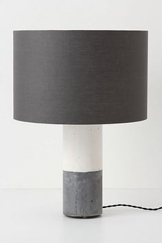 Banded Concrete Lamp Ensemble - Anthropologie.com    DIY at least the *look* of concrete?