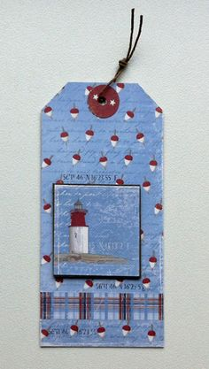 Tag nautical lighthouse sailing sea ocean - Maja Design, Majadesign paper: Life by the Sea collection #majadesign - JKE
