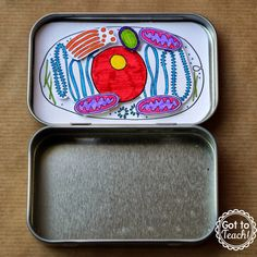 """After writing about Mint Tin Book Reports, I was flooded with other ideas on how these little tins could be used in the classroom. One of those ideas was making a cell model! In addition to the common mint tin, you will also want to have some """"fine line"""" markers for this project. I used"""