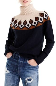 Main Image - J.Crew Ambrose Fair Isle Merino Wool Sweater