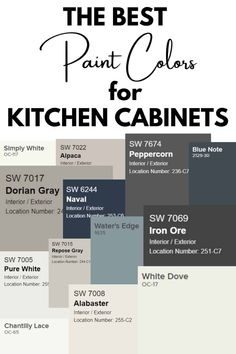 Need a Kitchen cabinet paint colors? Check out the 13 most popular paint colors for your kitchen cabinets from the painting experts. #painting #kitchen #cabinets #kitchencabinets Kitchen Redo, Kitchen Remodel, Kitchen Cupboards, New Kitchen, Best Color For Kitchen, Kitchen Cabinet Makeovers, Kitchen Ideas Color, How To Paint Kitchen Cabinets, Colored Kitchen Cabinets