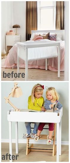 Baby products that grow with you: Stokke home cradle is a smart investment that converts to a desk/drawing table for older kids