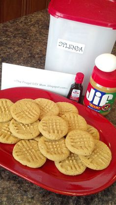 ~ The Frugal D.I.Y. Mom ~: Sugar Free, Low Carb, Gluten Free Peanut Butter Cookies!