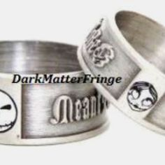 nightmare before christmas wedding bands - Nightmare Before Christmas Wedding Rings