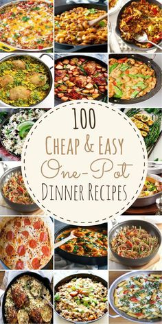 These cheap and easy one pot meals are perfect for busy families. With only one pot needed to make these delicious dinners, cooking and clean up will be a breeze! These one pot meals include pasta, One Pot Dinners, Easy One Pot Meals, Cheap Dinners, Kid Meals, Inexpensive Meals, Budget Dinners, Weeknight Dinners, Family Meals, Group Meals