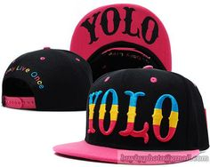 YOLO You Only Live Once Snapback Black Pink 12987135c3f