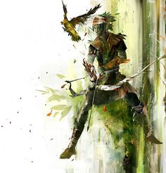 Guild Wars 2 concept art.      I admit, I was disappointed when the character creation pages went from abstract painting to mundane polygons.