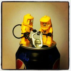 The LEGO Hazmat Guys are checking out some chemical waste