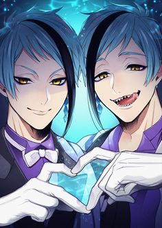 Anime Demon Boy, Anime Guys, Boy Boy, Black Butler Grell, Disney Games, Cute Twins, Twisted Disney, Anime Version, Merfolk