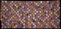 Africa | Ewe Cloth.  Narrow strip woven cotton man's cloth.  Ewe tribe.  Ghana c. 1925