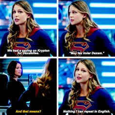 "#Supergirl #Season2 #2x03 - ""Hundreds of years ago, Krypton and Daxam fought a bloody war to a stalemate. Thousands of lives were lost on both sides because of a pointless war Daxam started."""