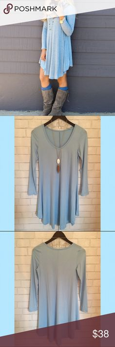 Spotted while shopping on Poshmark: {25% off Sale} V Neck Long sleeve Blue…