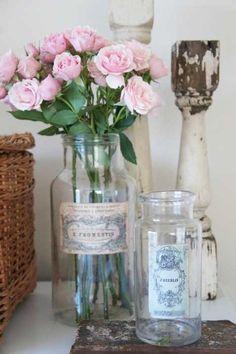 Love the glass bottles.