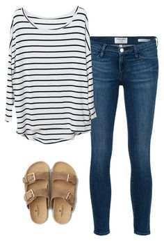 Super easy and cool stripes and jeans outfit
