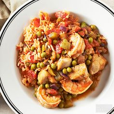 Spanish Rice with Chicken and Shrimp