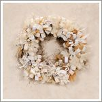 """Winter Wreath  Step1:Cover wreath with Spanish moss.  Step2:Cut & attach loops.Cut strips from patterned tissue, sheet music ect.Make a loop with each bow strip.Insert a pin through holes & insert into foam wreath it is nearly full.  Step3:Attach bows & lace.For hanger, cut one 8"""" by 1"""" ribbon.Tie satin and sheer ribbons into bows.Cut ends at a slant or in a """"v."""" Attach bows to wreath using pearl head pins.Cut six 6"""" pieces of lace.Glue between loops, having them evenly spaced around wreath."""
