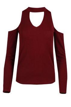 Women 3//4 Sleeve CutOut Cold Shoulder /& Choker Neck HILO Loose Baggy Batwing Top