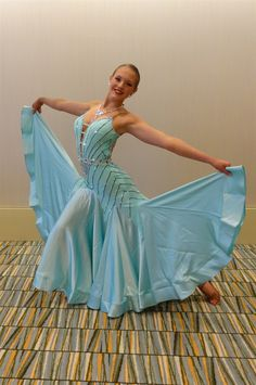 Elegant Mint Green Ballroom Dress