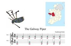 THE GALWAY PIPER,PIANO,VIOLIN,FLAUTA,TWO BOOMWHACKER SCORE. WAV SOUND MP3 TO PLAY WITH INCLUEDED.IRISH SONG DRINKING.This is a well-known Irish drinking tune because of another version of the lyrics, The Rakes of Mallow. The tune was first printed circa 1740.LYRICSEvery person in the nationOr of great or humble stationHolds in highest estimationPiping Tim of GalwayLoudly he can play or lowHe can move you fast or slowTouch your hearts or stir your toePiping Tim of GalwayWhen the wedding bells…