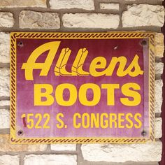 Cute boot shop sign in soco, Austin  #austin #typography
