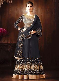 Net And Chiffon Long Anarkali Suit