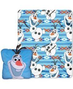 "Disney Frozen ""All About Olaf"" 3D Pillow & Throw Set - Multi"