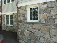 I actually really like this stone siding! 25 Boston Blend Fieldstone 'Mosaic' Stone Siding (New England Fieldstone) Stone Veneer Exterior, Stone Siding, House Exterior, Stone Exterior Houses, Brick And Stone, Stone Siding Exterior, Stone Houses, Fieldstone, Exterior Siding