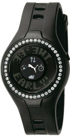 #PUMA Women's PU910222002 Blockbuster Circuit Touch Screen Crystal #Watch, Black