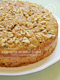 Cinnamon Banana Walnut Cake from Happy Home Baking