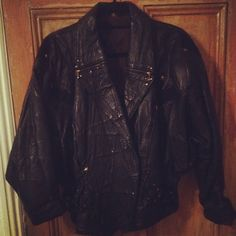 90s patchwork batwing leather jacket £35 Bat Wings, Women Wear, Leather Jacket, Clothes For Women, Instagram Posts, Jackets, Vintage, Fashion, Scrappy Quilts