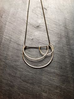 Geometric Art Deco Hammered Gold Small by LoopHandmadeJewelry, $58.00