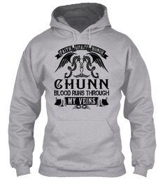 CHUNN - My Veins Name Shirts #Chunn