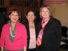 Franca Dente, Presidente degli Assistenti Sociali; Maria Vicario Presidente Ostetriche e Marina Calderone.