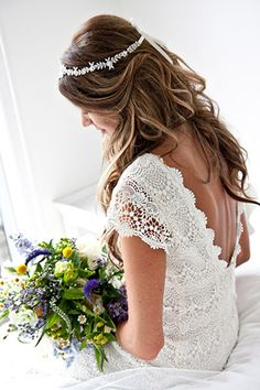 Really digging the crochet, boat neck, open back, and cap sleeves. (Price isn't bad either!!)