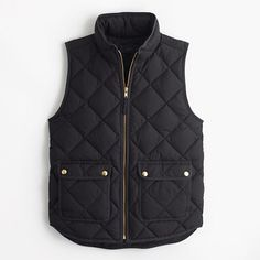 "A lightweight down vest that's compact and easy to layer but still warm enough to keep chilly weather at bay. We made the sporty shape a bit more flattering with a slimmer silhouette and gold hardware. <ul><li>Boxy fit.</li><li>Body length: 24 1/2"".</li><li>Hits at hip.</li><li>Down-filled poly.</li><li>Pockets.</li><li>Machine wash.</li><li>Import.</li></ul>"